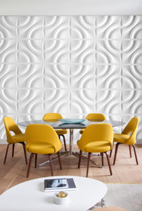 DROPLETS by ARTE' FORMS - Designer Paintable 3d Wall Panels - Matte White