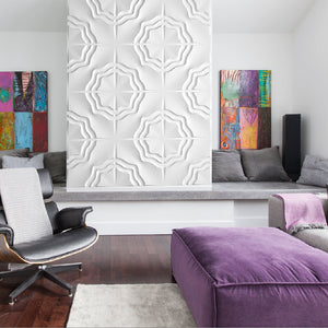 TRAILS by ARTE' FORMS - Designer Paintable 3d Wall Panels - Matte White
