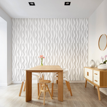 Load image into Gallery viewer, WAVES by ARTE' FORMS - Designer Paintable 3d Wall Panels - Matte White