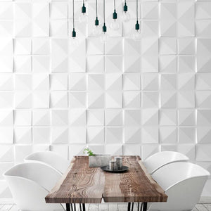 SQUARES by ARTE' FORMS - Designer Paintable 3d Wall Panels - Matte White