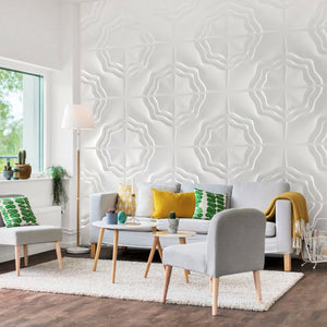 Interior design with 3d wall panels