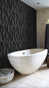 Bathroom Interior design with 3d wall panels