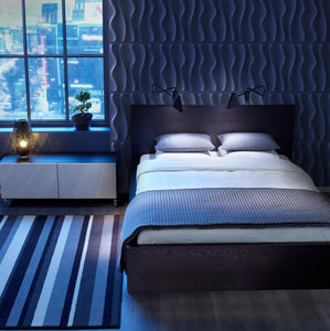 Bedroom Interior design with 3d wall panels
