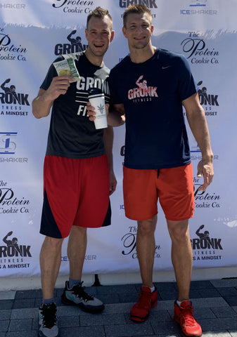 Gronk Gets Sweaty And Shirtless At The Gronk Fitness Seaport