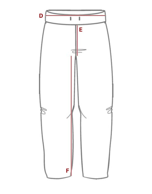 Open Bottom Sweatpants Size Guide Visual
