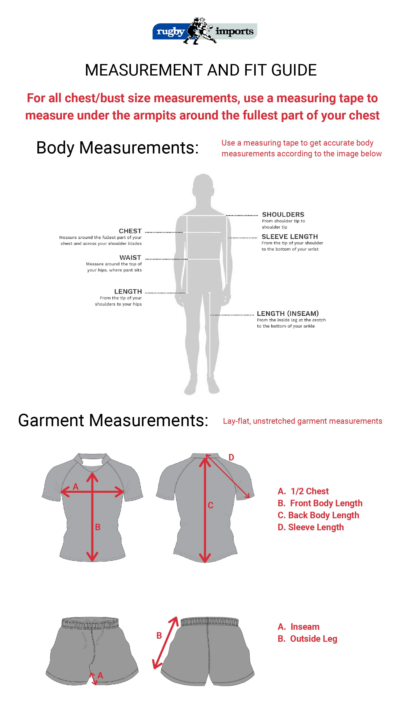 Measurement and fit guide