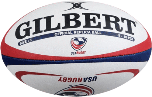 white replica rugby ball gilbert