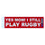 Yes Mom Rugby Bumper Sticker