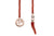 Barbarulo Napoli I Lapel Chain Natural Coral Horn - Rose Gold/sterling silver