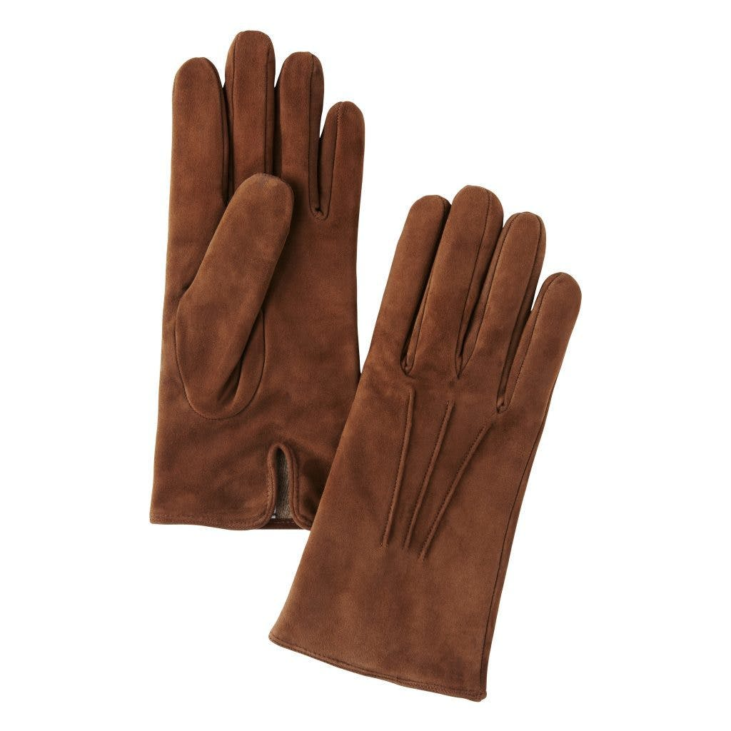 Merola Cashmere Lined Suede Gloves - Light Brown