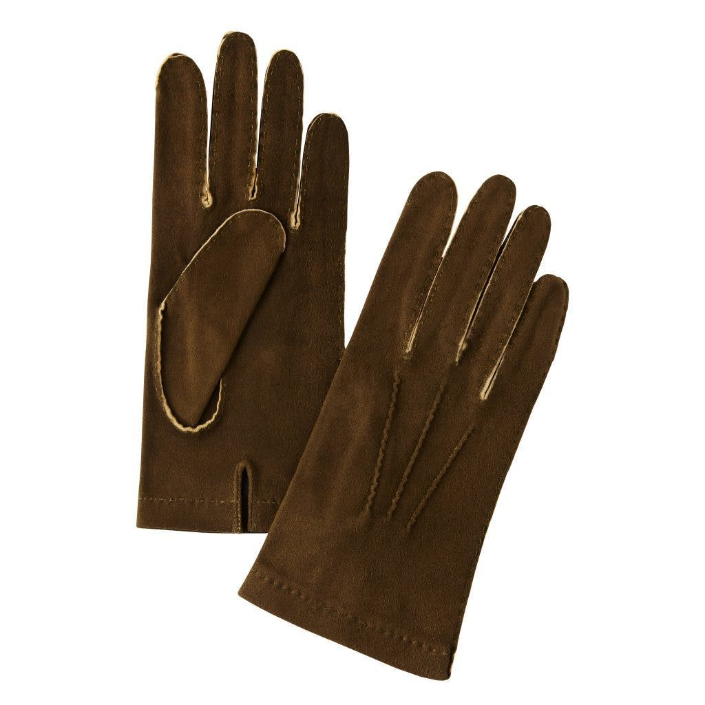 Merola Unlined Hand-Sewn Roe Deer Gloves - Army Green