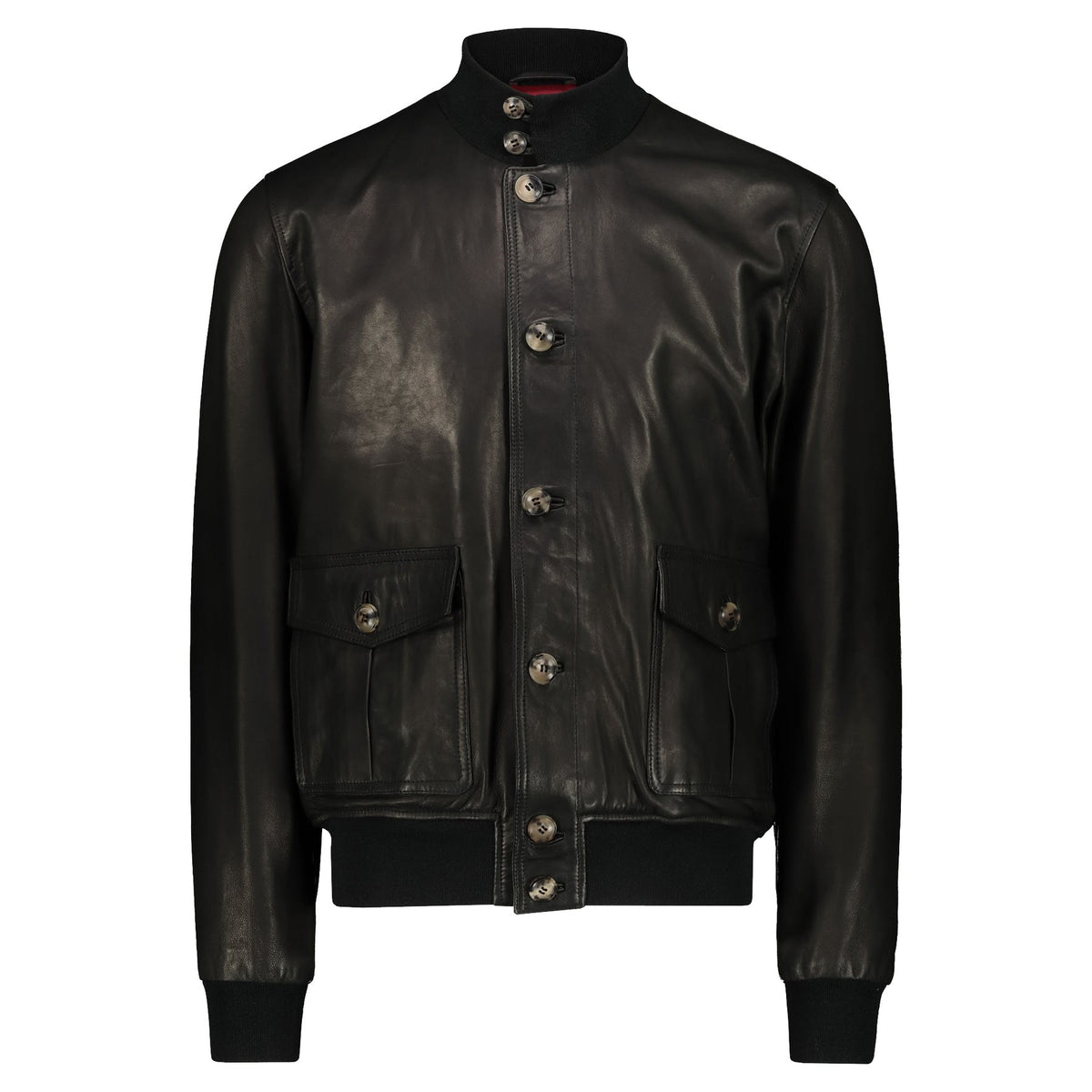 Atacama Black natural lambskin Bomber Jacket