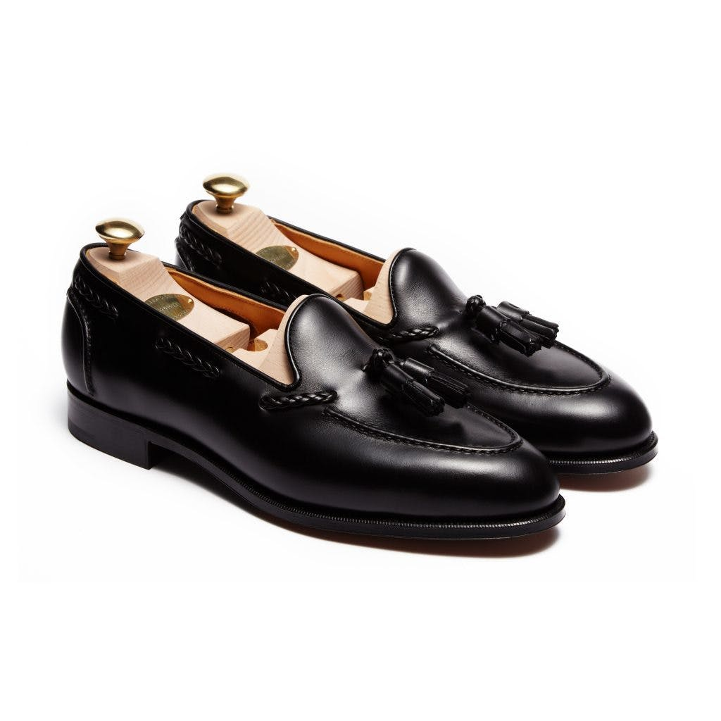 Edward Green Belgravia 184E - Black Calf Leather