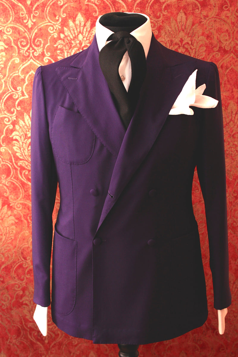 Sciamat - double breasted 4 button purple jacket