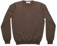 Sartoria Vestrucci Firenze - cotton crew neck sweater, khaki.