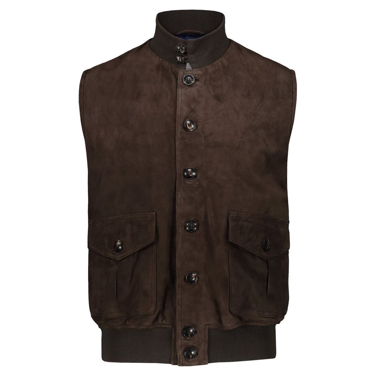 Atacama Cary Suede Brown Sleeveless Vest