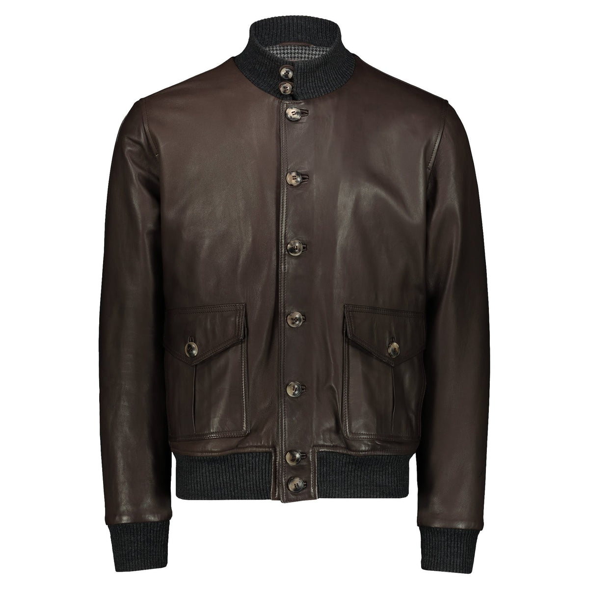 Atacama Brown natural lambskin Bomber Jacket