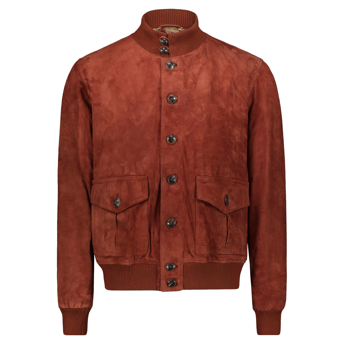 Atacama Cary Suede Bomber Rust Color