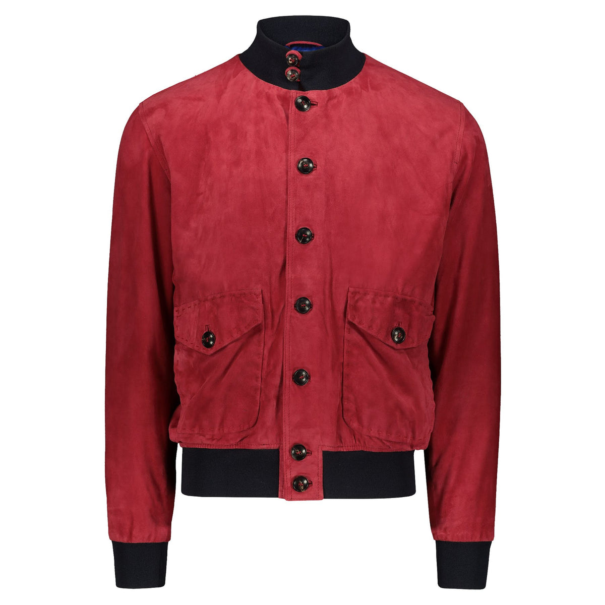 Atacama Cary Suede Bomber Red Coral