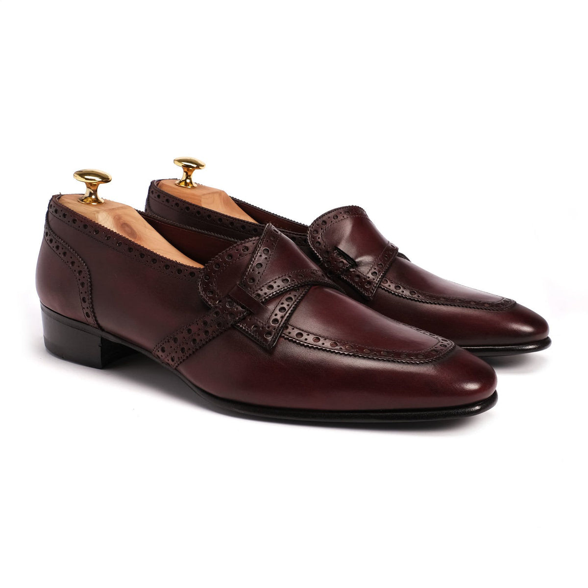 Side Flap Brogue Loafer
