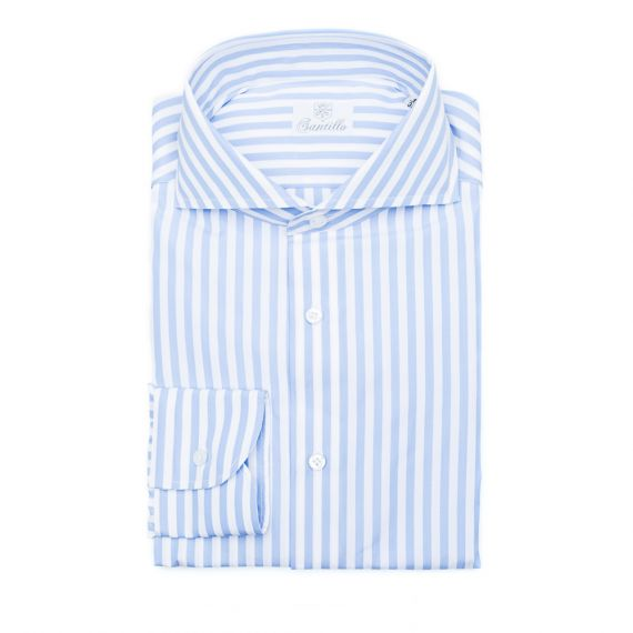 Santillo 1970 - STRIPES Double Twisted Cotton Shirt