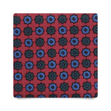 FLORAL PATTERN HANDPRINTED SILK – RED MIX