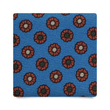 FLORAL PATTERN HANDPRINTED SILK – LIGHT BLUE