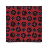 FLORAL PATTERN HANDPRINTED ANCIENT MADDER SILK – RED