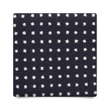 PIN DOT VINTAGE SILK TIE – NAVY/WHITE