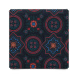 FANTASY FLORAL UNTIPPED ANCIENT MADDER SILK – NAVY