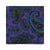 CLASSIC PAISLEY HANDPRINTED SILK – PURPLE