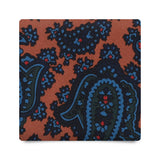 CLASSIC PAISLEY HANDPRINTED SILK – ORANGE