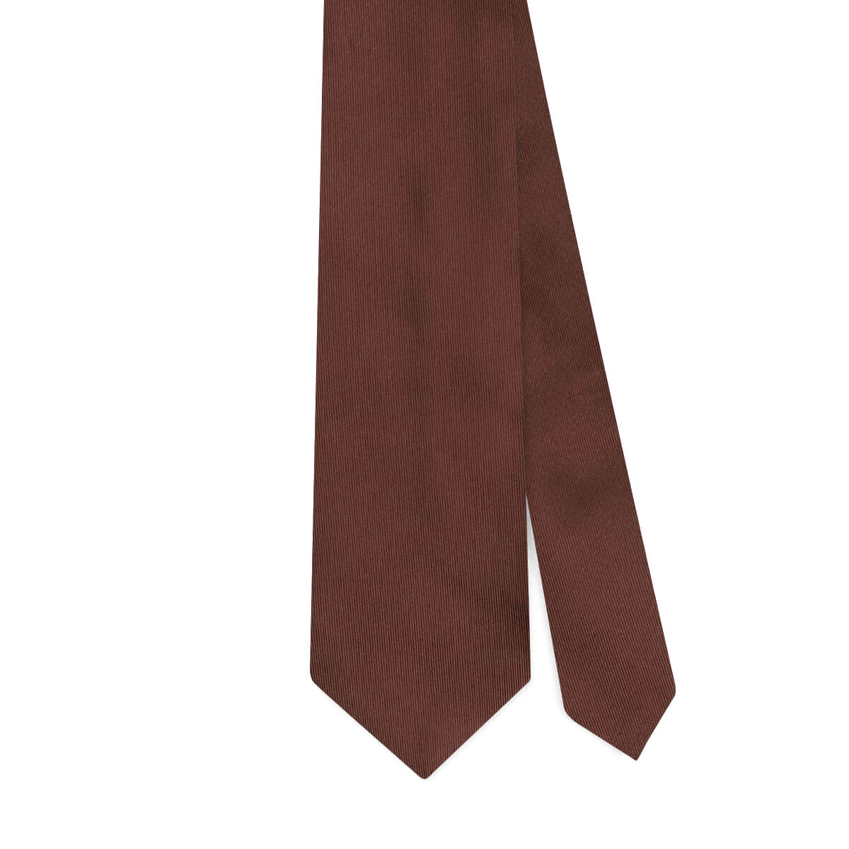 SOLID WOVEN SILK JACQUARD TIE – BROWN