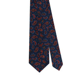PAISLEY HANDPRINTED 36OZ SILK – NAVY