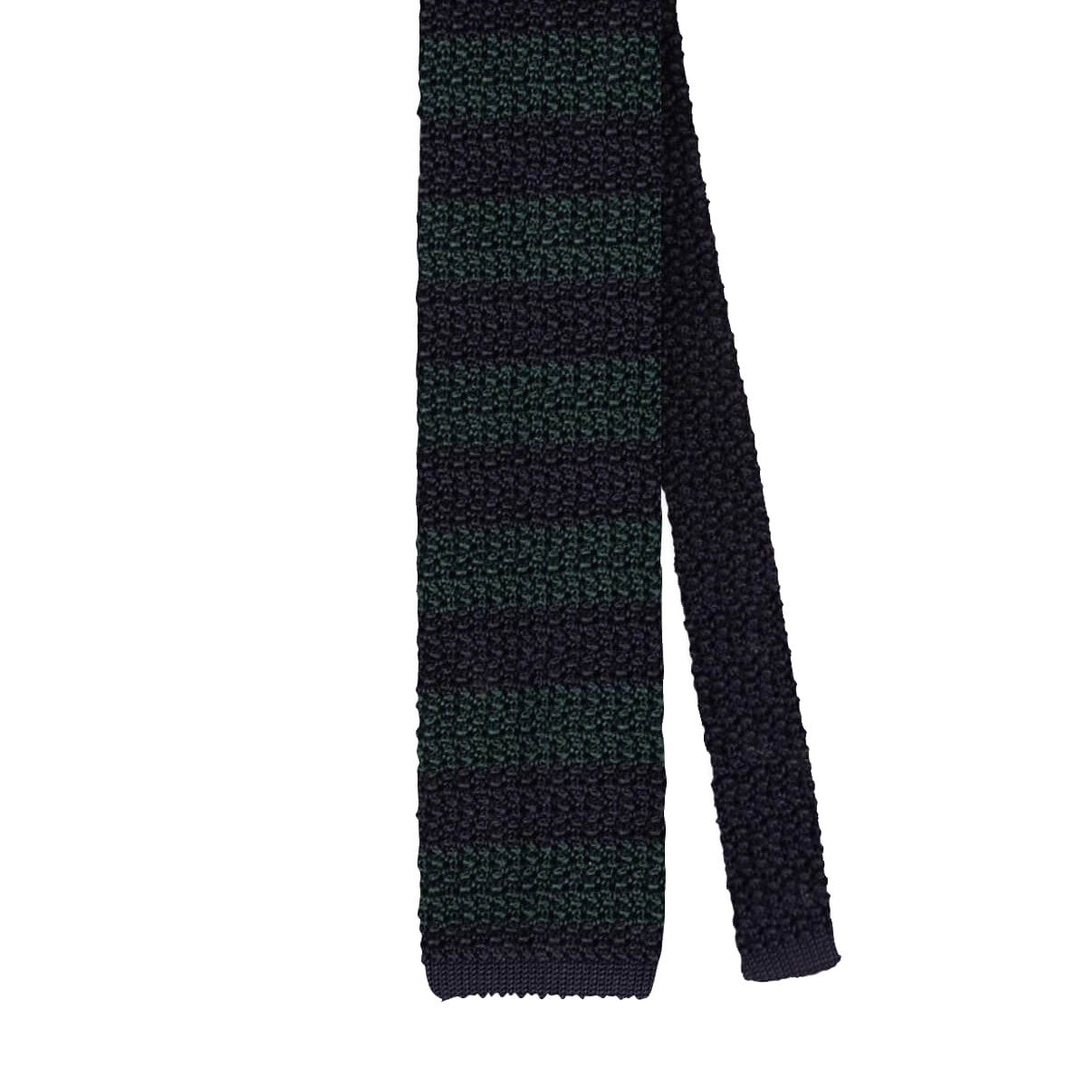 Classic Stripe Knitted Tie - Navy/Red Forest