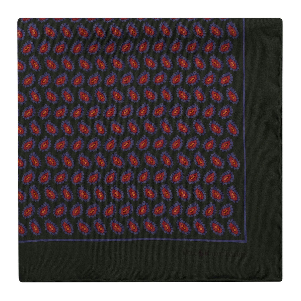 Ralph Lauren Pocket Floral Pattern Foulard Pocket Square - Green