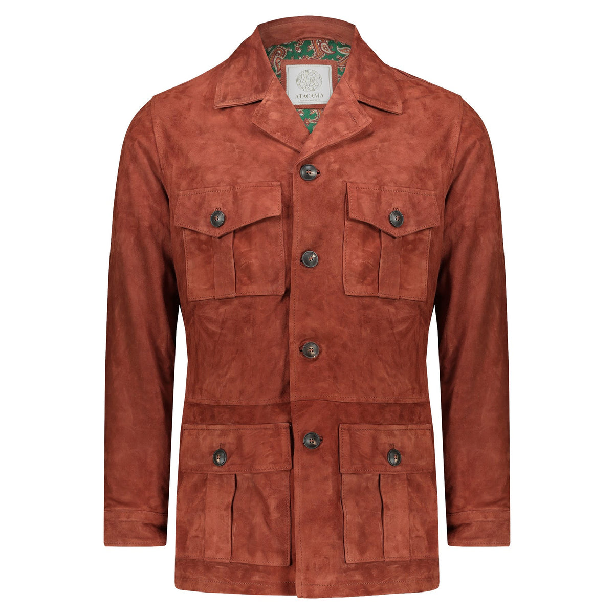 Atacama Safari Clark Suede Goatskin Copper Rust Color