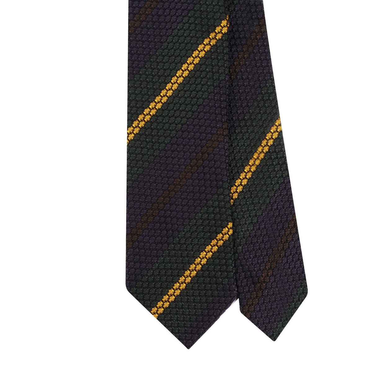 Mix Stripe 3-Fold Grenadine Tie - Verde Mix
