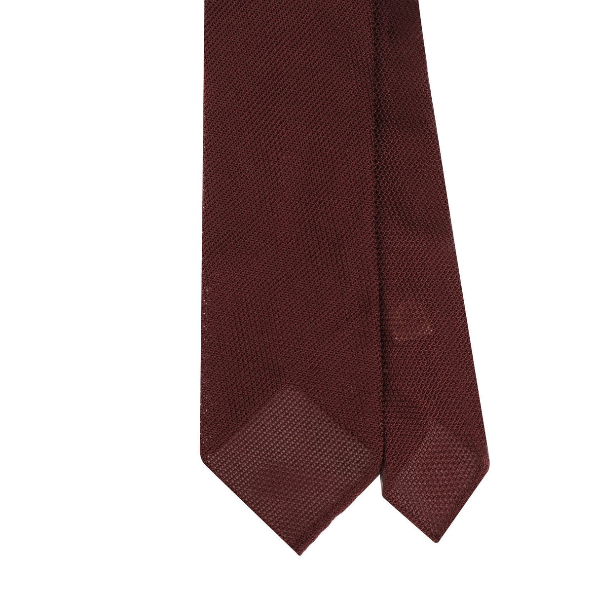 Grenadine Garza Fina Untipped Tie - Burgundy