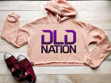 Load image into Gallery viewer, DLDNation Peach Crop Hoodie