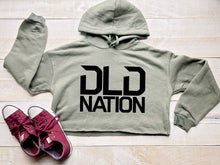 Load image into Gallery viewer, DLDNation Green Crop Hoodie