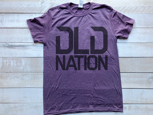 DLDNation Men's Purple T-Shirt