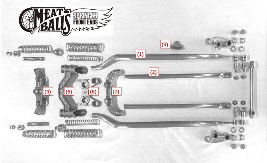 Springer front end exploded view