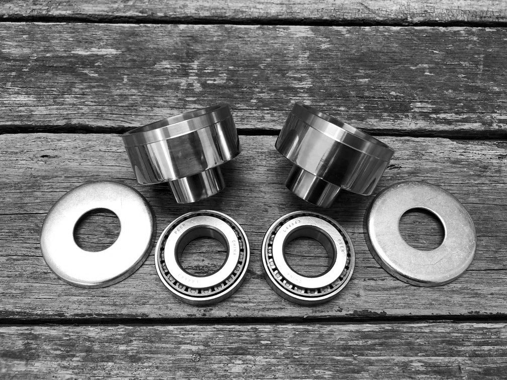 "Harley Sportster 7/8"" to 1"" Headstem Bearing Cup Conversion Kit - 52 to 1982 Models"