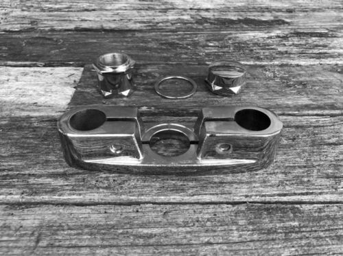 Top Clamp Custom Chrome (Round) with Nut Set