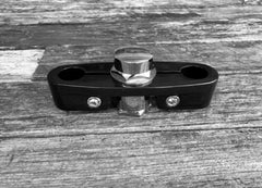 Top Clamp Custom Black (Round) with Nut Set
