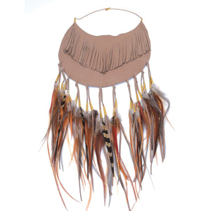 Sable Moon Fringe Necklace