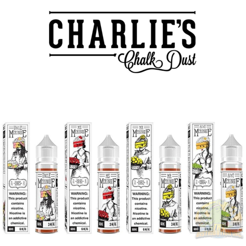 Charlies Chalk Dust: Meringue And The Family E-Juice (60Ml) Mr. / 0Mg