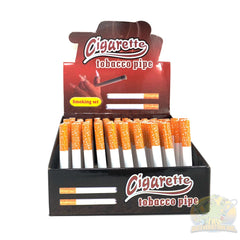 Cigarette One-Hitter Tobacco Pipes (100-Count Display)
