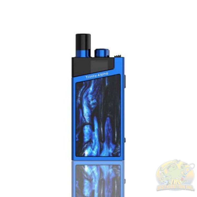 Smoke: Trinity Alpha 25W 1000Mah Pod System Starter Kit With 2.8Ml Refillable Prism Blue Vaporizer